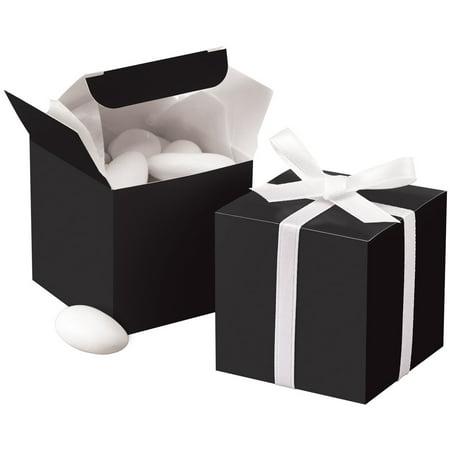 Black Square Favor Box Kit, 100 Count