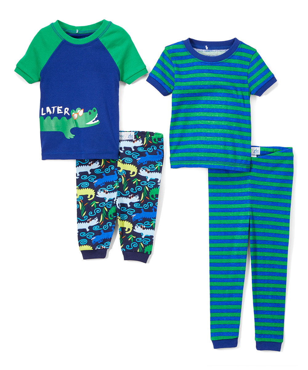 Boys' Later Gator 4 piece Pajama Sleep Set (Little Boy & Big Boy)
