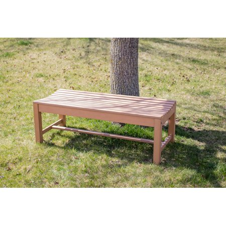 Super Composite Wood Outdoor Backless Bench Natural Wood Color Ncnpc Chair Design For Home Ncnpcorg