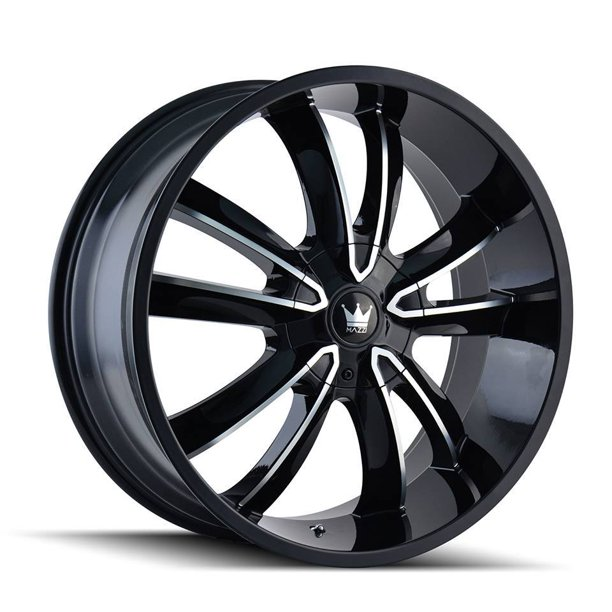 20 Inch Mazzi 366 Obsession 20x8.5 5x110/5x115 +35 Black/Machined Wheel Rim