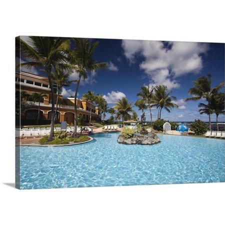 Great Big Canvas Walter Bibikow Premium Thick Wrap Canvas Entitled Puerto Rico  North Coast  Dorado  Embassy Suites Resort Hotel