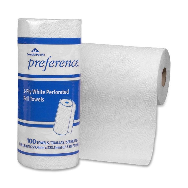 GEORGIA PACIFIC                                    Preference Perforated 2-Ply Paper Towel - 100 Sheets per Roll / 30 Rolls per Carton