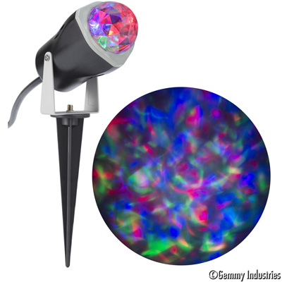 Gemmy Lightshow Projection Spot Light Fire and Ice (Red, Green, Blue) Halloween Decoration