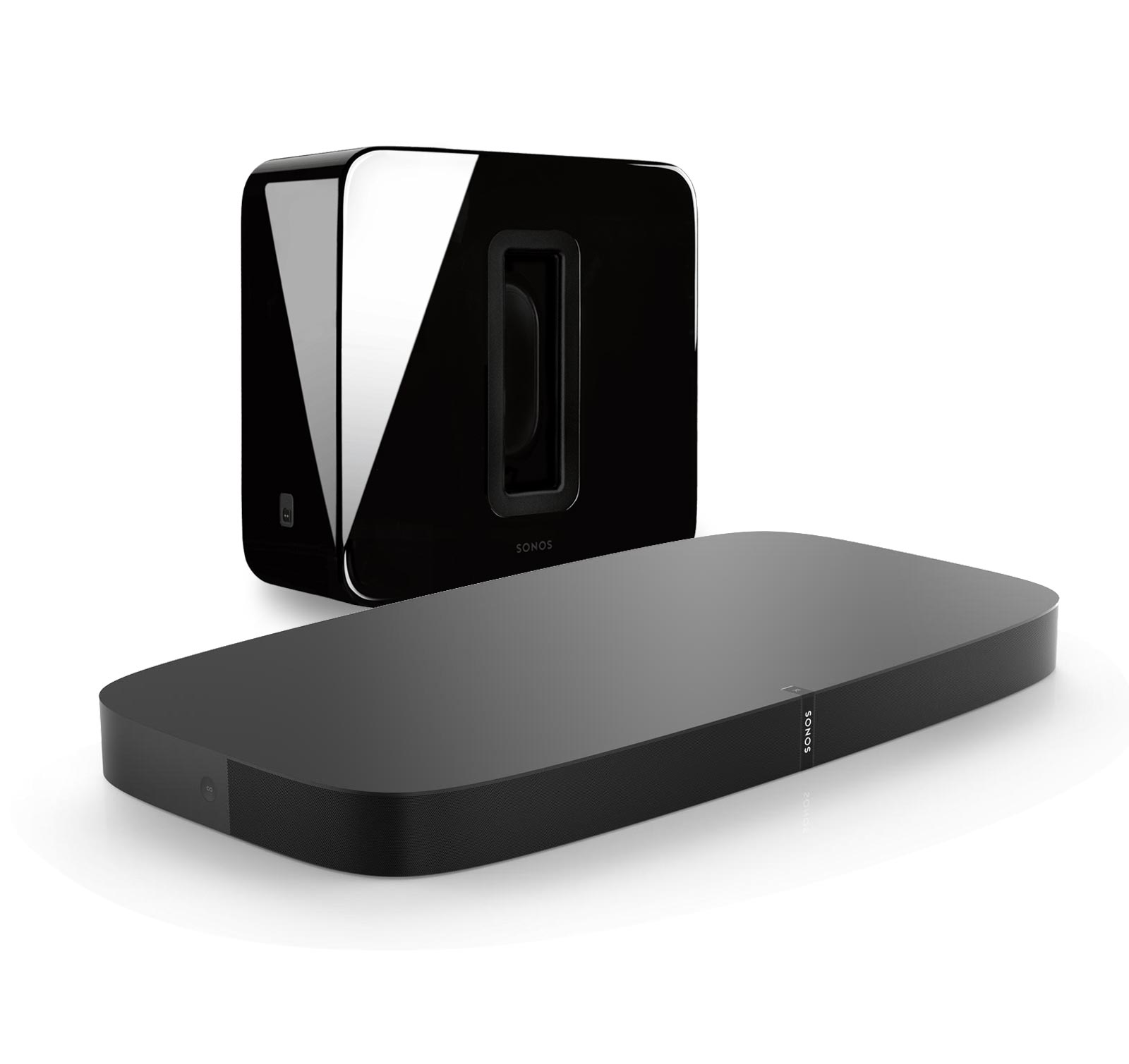 Sonos 3.1 Entertainment Set with Playbase and Sub for TVs on stands...