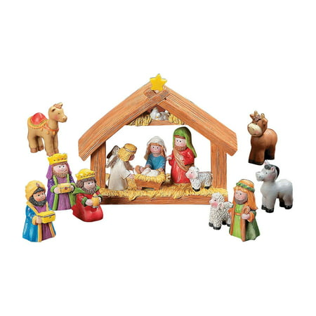 Mini Resin Nativity Set - 9 Pieces