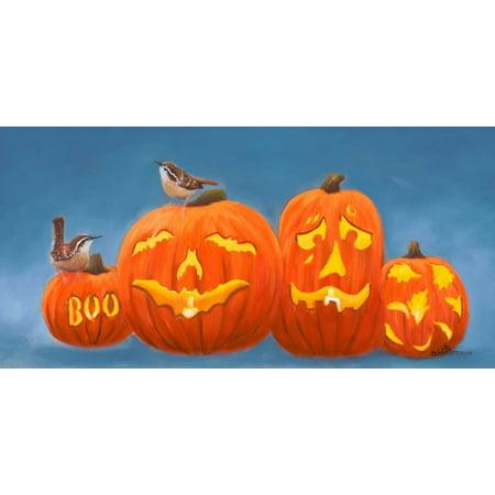 Halloween Pumpkins Stretched Canvas - Julie Peterson (10 x 20) - Julie Ann Art Halloween Costumes