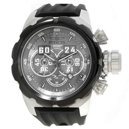 21629 Men's Russian Diver Grey Dial Black Silicone Strap Chronograph -