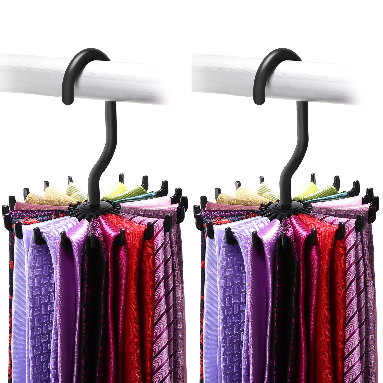 Best Tie Racks For Closets: Tie Rack, IPOW Belt Rack Hanger Ties Organizer Holder For