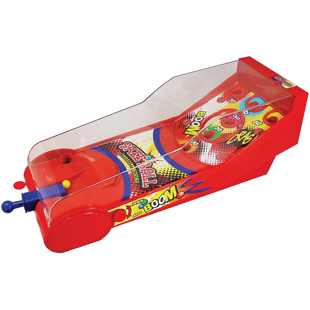 Dubble Bubble Skeeball Gumball Machine - Pinball Style Game Lights Sounds