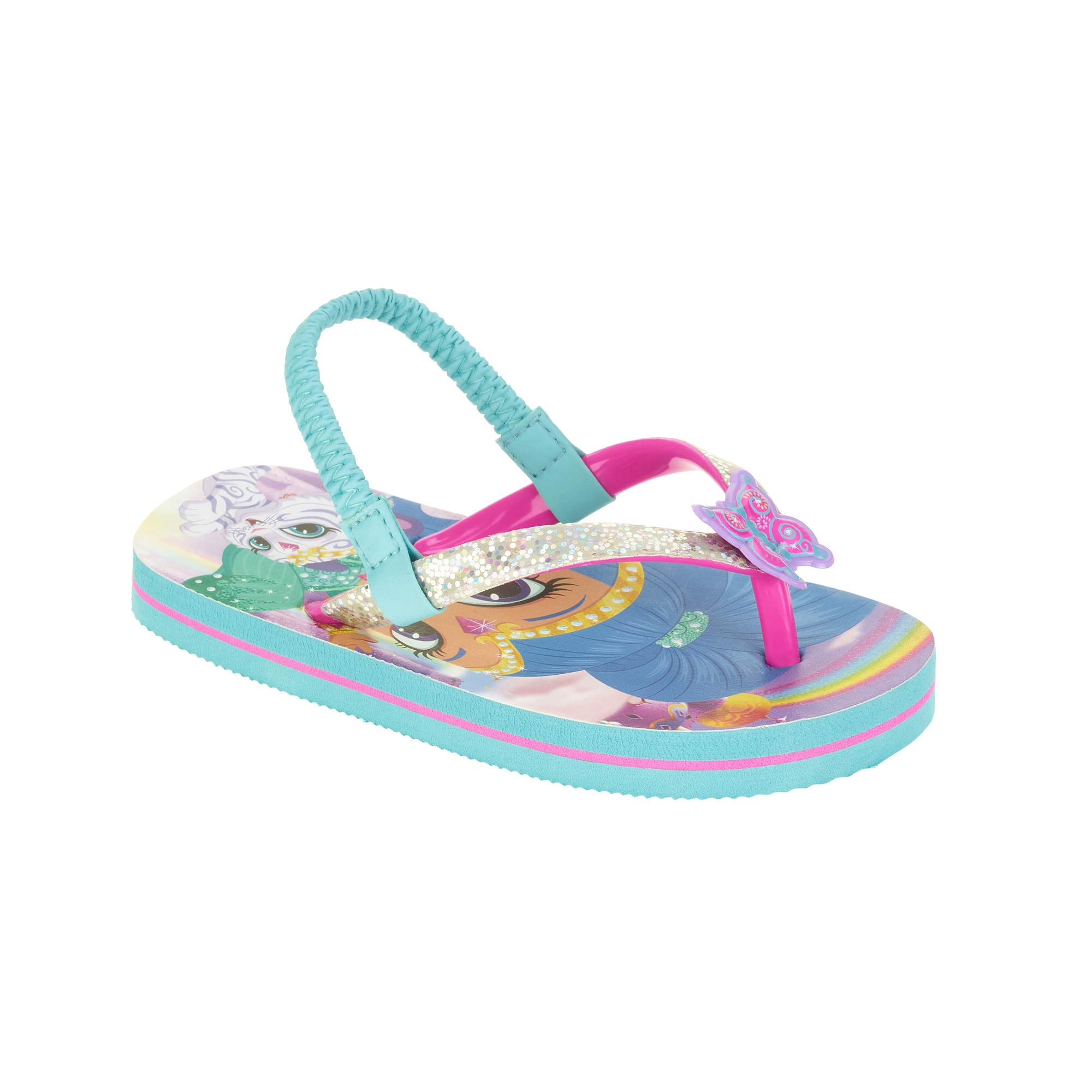 8326b41bf74e Shimmer and Shine Toddler Girls  Beach Flip Flop – Walmart Inventory ...