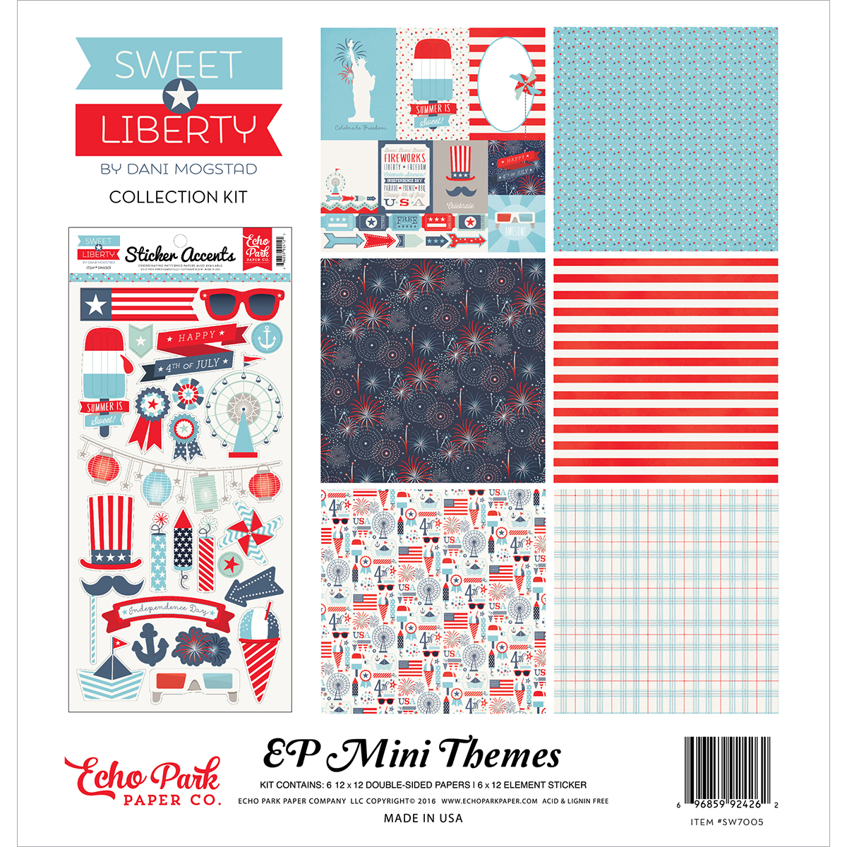 "Echo Park Collection Kit 12""X12""-Sweet Liberty"