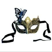 Gigi Eye Costume Mask: Black/Gold