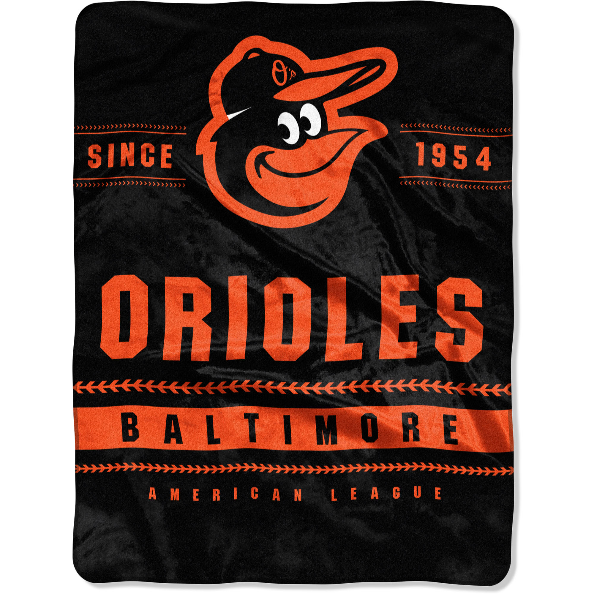 """Baltimore Orioles The Northwest Company 60"""" x 80"""" Backstop Silk Touch Throw Blanket - No Size"""