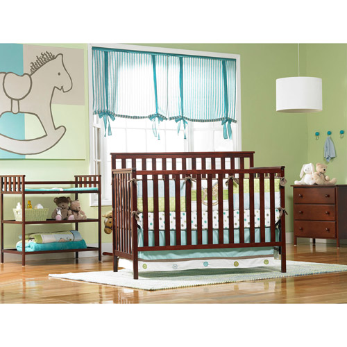 Nursery 101 Deluxe Nursery Room Furniture Set, Classic Cherry