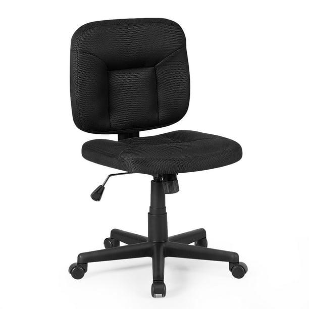 Costway Mesh Computer Chair Low Back Adjustable Task Chair Armless Home Office Furniture Walmart Com Walmart Com
