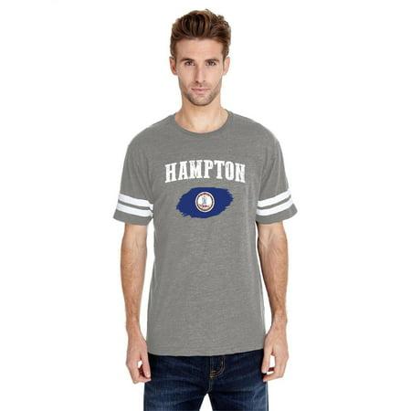Hampton Virginia Men Football Fine Jersey Tee