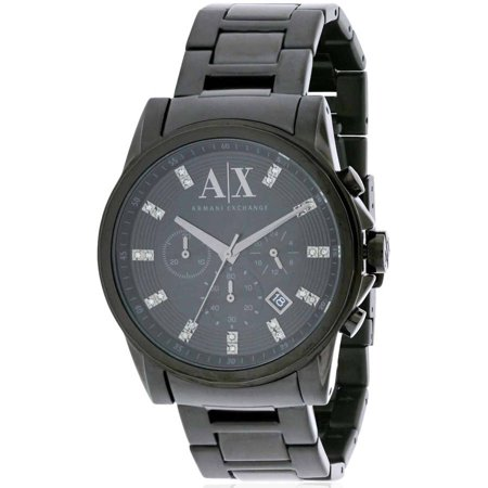 Armani Exchange Black Ion Stainless Steel Chronograph Men's Watch, AX2093