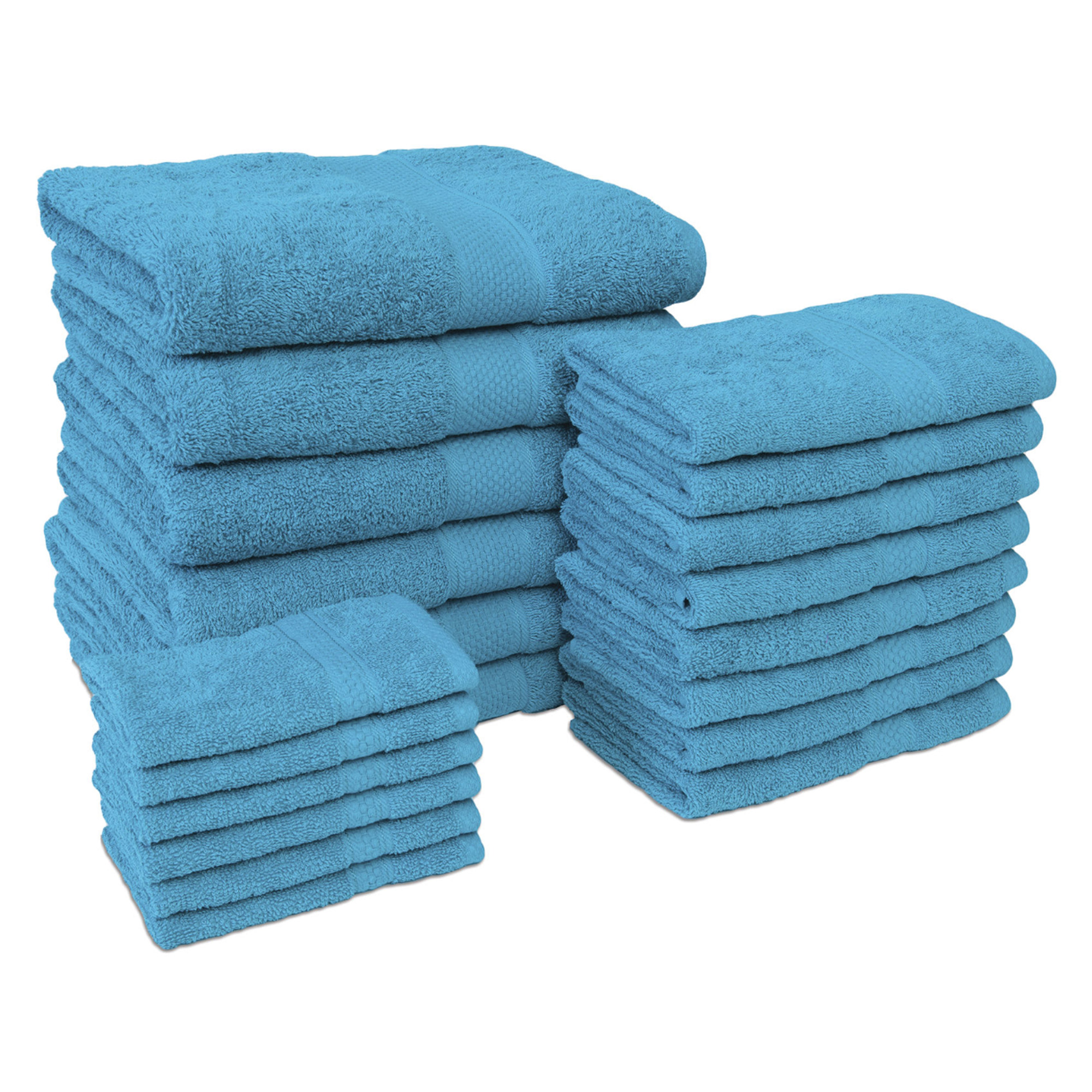 Jumbo 20 Piece Towel Set in Teal