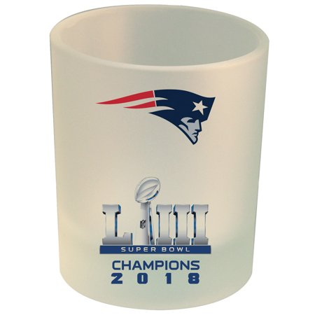New England Patriots Super Bowl LIII Champions 8.45oz. Frosted Rocks Glass - No Size