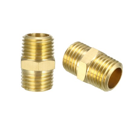 Male Right Fitting (Brass Pipe Fitting , Hex Nipple , 1/4