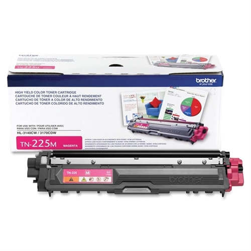 Brother Magenta 2200 Page Yield Toner Cartridge for HL-3170CDW / HL-3140CW Printers TN225M