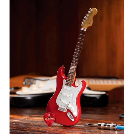Red Classic Guitar - Axe Heaven Fender Stratocaster Classic Red Miniature Guitar Replica Collectible