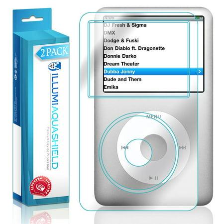 - 2x iLLumi AquaShield Crystal HD Screen Protector Shield for Apple iPod Classic