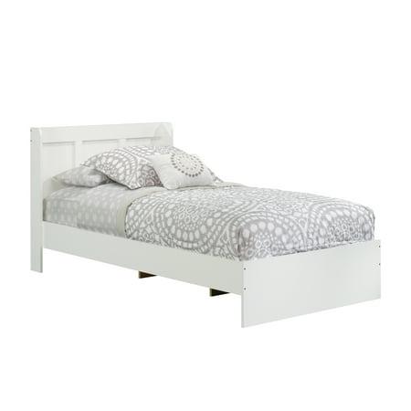 Mikasa Park Lane - Sauder Parklane Twin Platform Bed with Headboard, Soft White Finish