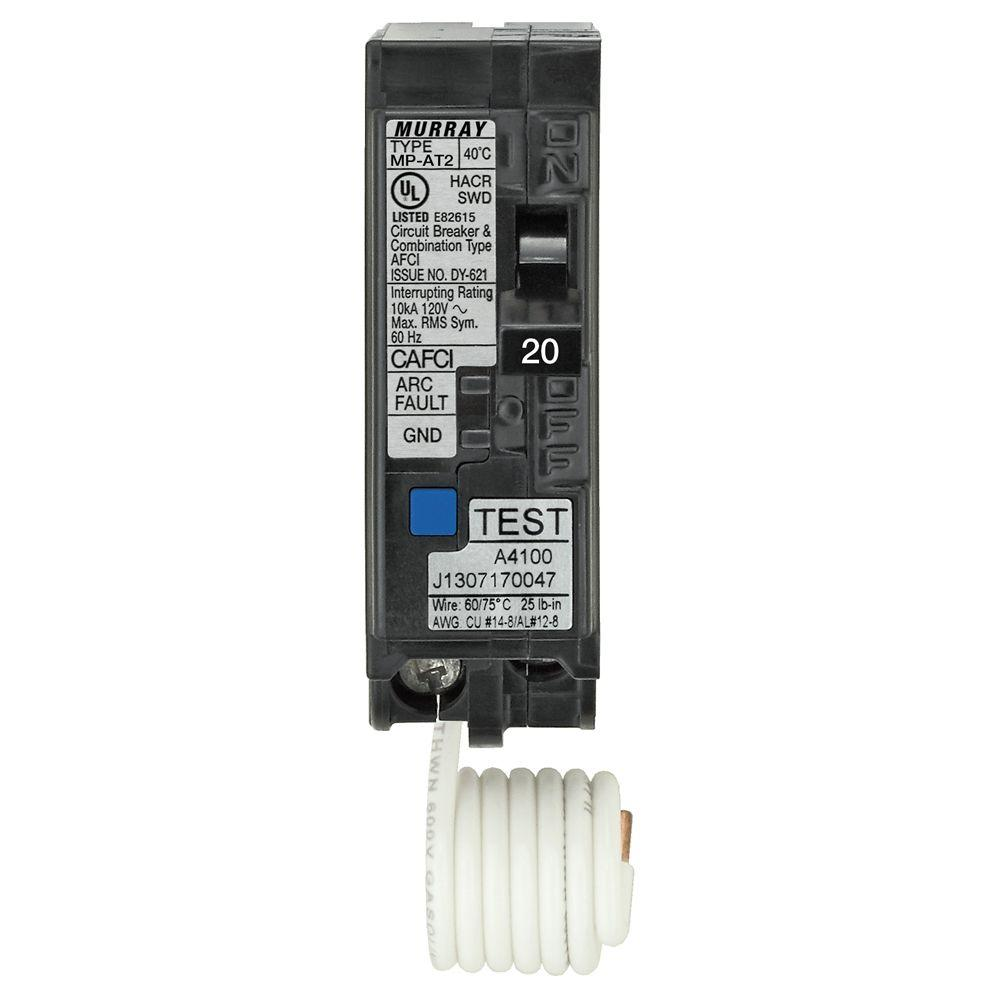 Murray 20 Amp 1 In Single Pole Combination Afci Circuit Breaker