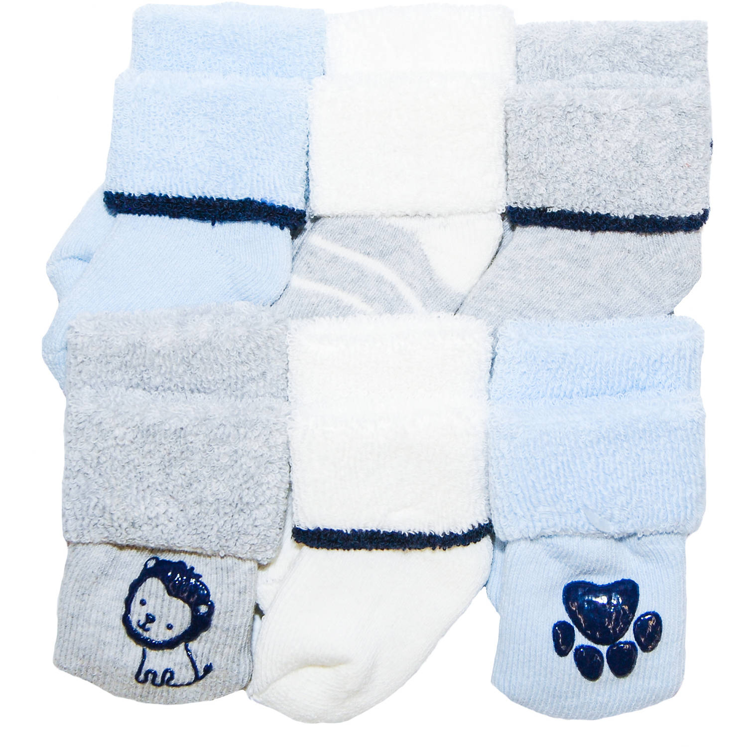 Child of Mine by Carter's Newborn Baby Boy 6-Pack Terry Cuff Socks