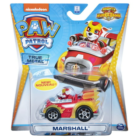 PAW Patrol, True Metal Mighty Marshall Super PAWs Collectible Die-Cast Vehicle, Mighty Series 1:55 (Best Marshall For Metal)