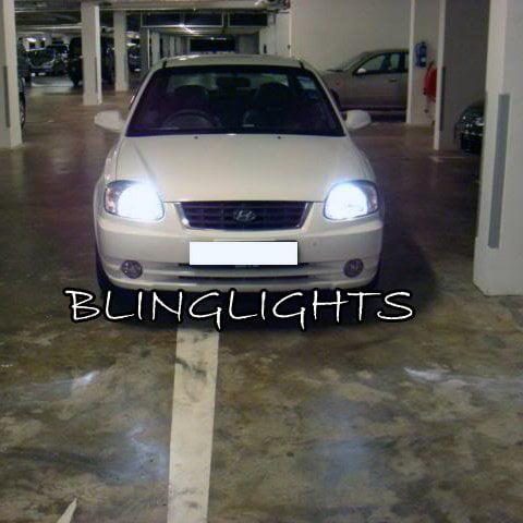 2000 2001 2002 2003 2004 2005 Hyundai Accent Bright White Light Bulbs For Headlamps Headlights