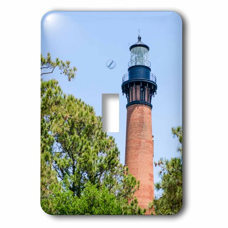 3dRose Currituck Beach Lighthouse, Corolla, Outer Banks, North Carolina, USA. - Single Toggle Switch (Outlet North Carolina)