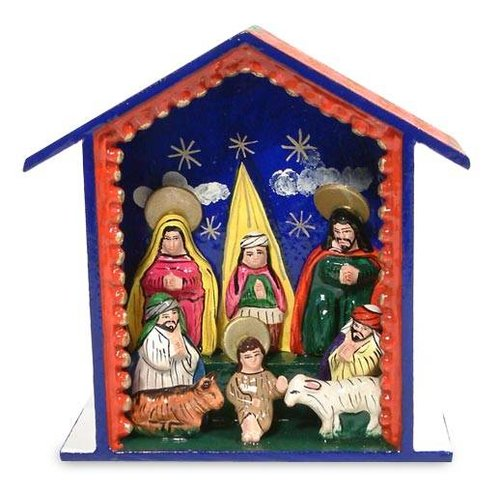 The Holiday Aisle 8 Piece Blessed Are Those Who Come Nativity Scene Peru Set