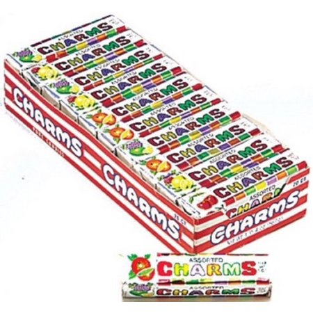 Charms Squares Assorted Fruit Flavor 20 packs (1 oz per pack) - Charms Candy