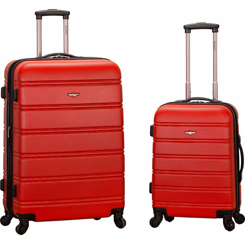 Rockland Luggage Melbourne 2-Piece Expandable ABS Spinner Luggage Set