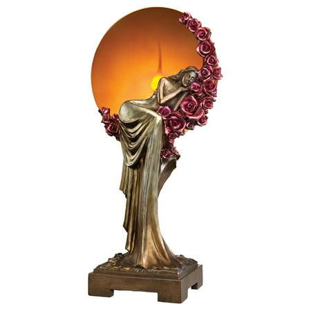 Design Toscano Elegant Slumber Art Deco Illuminated Sculpture