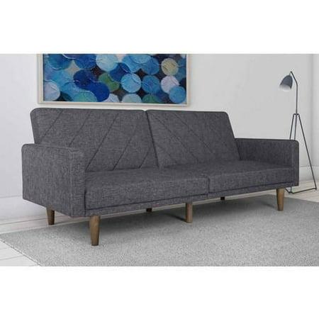 DHP Modern Retro Paxson Sofa Bed, Gray