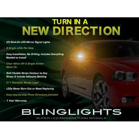 New Dodge Charger LED Side Mirror Lights Turn Signal Lamp Kit set Led Turn Signal Set