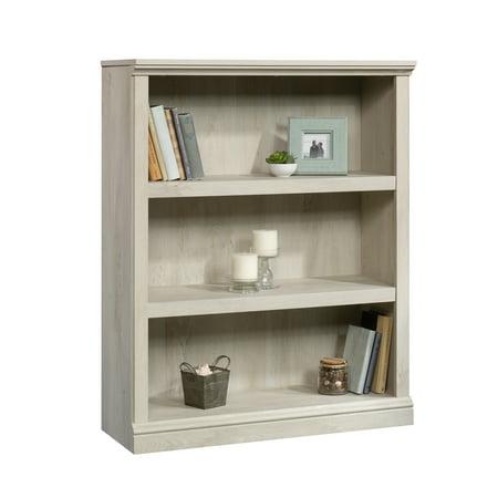 Sauder 3 Shelf Bookcase, Chalked Chestnut Finish