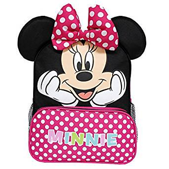 Small Backpack - Disney - Minnie Mouse Happy Face w/Red Pocket 12