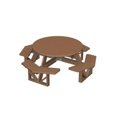 Recycled Park Lane Outdoor Patio Octagon Picnic Table   Raw Sienna
