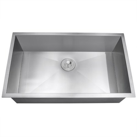 AKDY 33\'\' x 22\'\' Undermount Stainless Steel Single Bowl Kitchen Sink ...