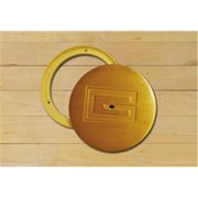Gared Sports 6432 8 in. x 6.63 in. Swivel Cover Plate - Brass