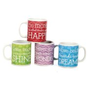 DEI 4 Piece Stoneware Big Can 20 Oz. Mug Set
