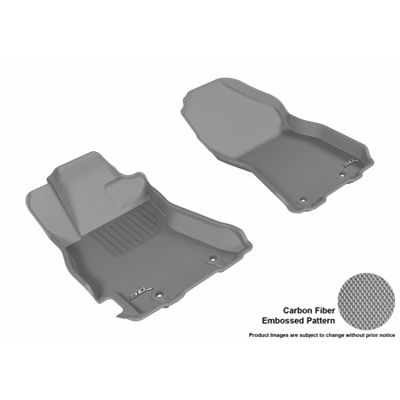 3D MAXpider 2015-2017 Subaru Legacy/Outback Front Row All Weather Floor Liners in Gray with Carbon Fiber Look ()