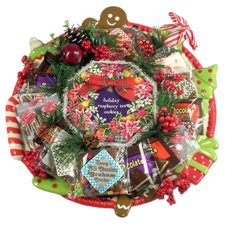 Well Cookie Arrangement (Gift Basket Drop Shipping ChCo Deluxe Christmas Cookie Platter, Holiday Cookie Arrangement)