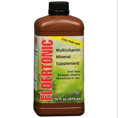 Eldertonic multivitaminé un supplément minéral liquide 16 oz (Pack de 3)