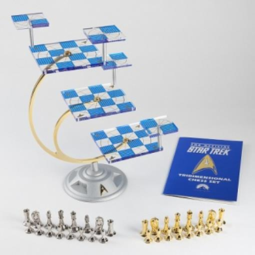 Franklin Mint's Official 50th Anniversary Star Trek Tridimensional Chess Set by Wood Expressions