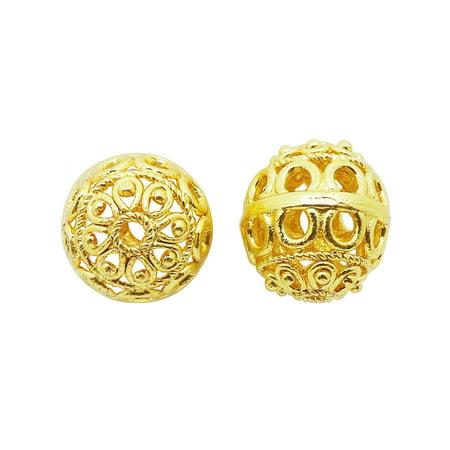 BG-100 18K Gold Overlay Bali - Bali Bead Drop